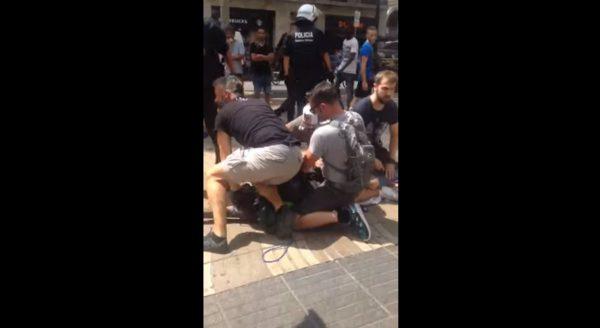 detencion mantero barcelona