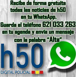 Recibe las noticias de h50 en tu WhatsApp