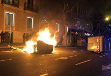 Disturbios Barcelona mossos
