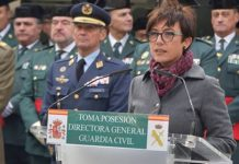 María Gámez, directora general de la Guardia Civil interior