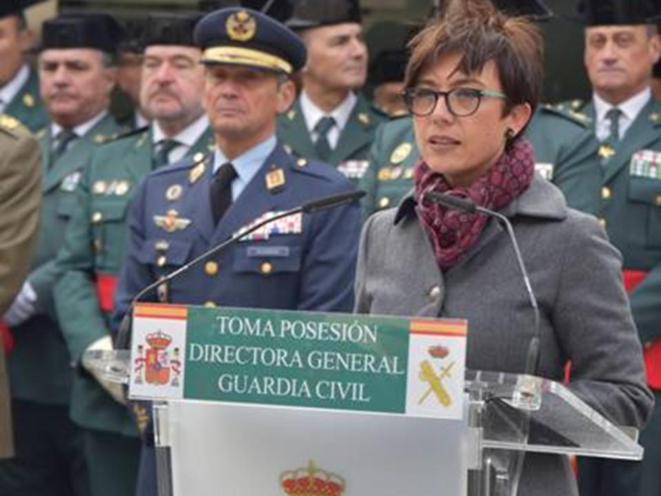 María Gámez, directora general de la Guardia Civil interior