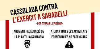 cdr Sabadell en contra del Ejército y la Policía