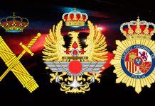policia guardia civil militares