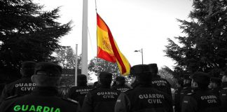 guardia civil bandera España h50