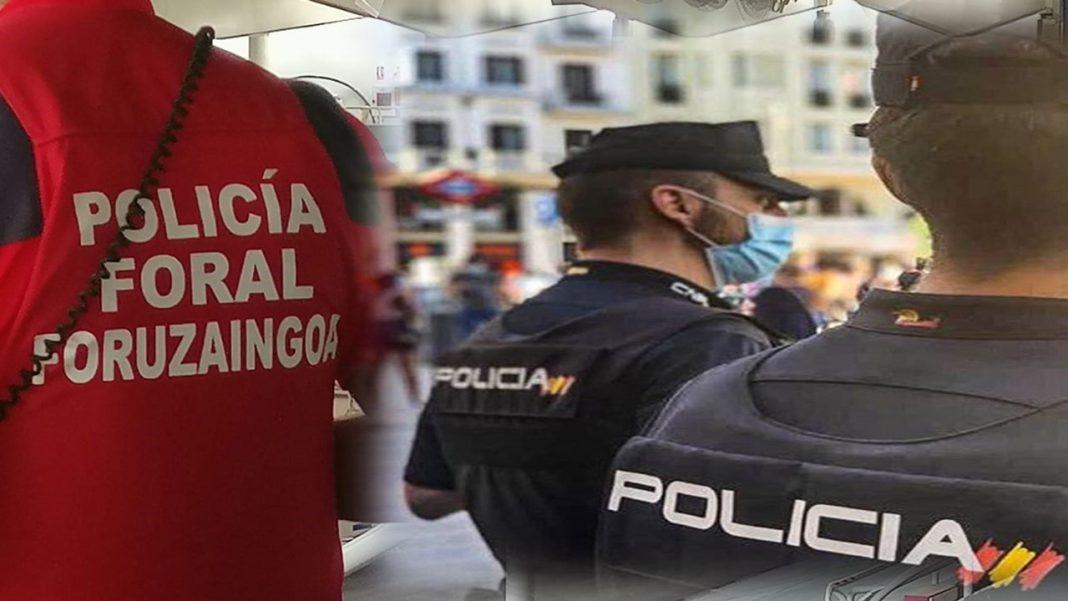 Policía Nacional pasarela Policía Foral