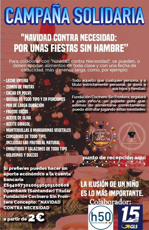 cocinero sin frontera españa h50 campaña solidaria
