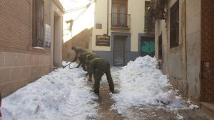 ejercito tierra toledo nieve calles