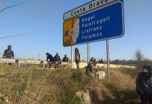 CDR cortan autopista Gerona