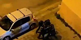 disturbios en jerez policía