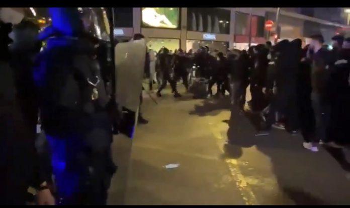 disturbios hasel madrid