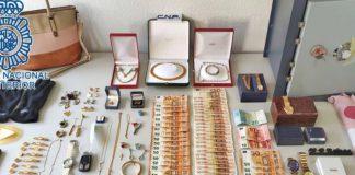 dinero y joyas intervenidos en sevilla