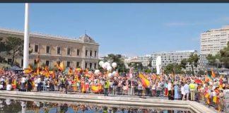 plaza colon madrid, manifestacion