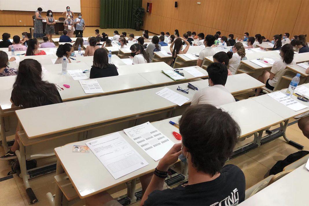 examen, selectividad, alumnos,