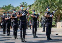 Desfile toma posesion nuevos policías